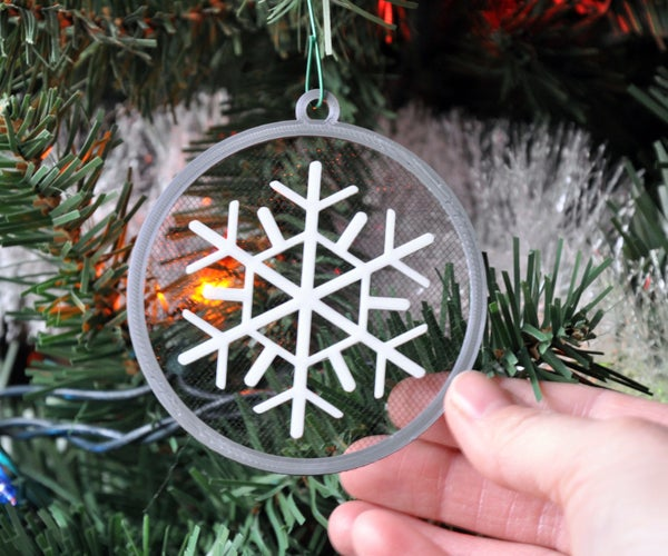 Floating Snowflake Ornament