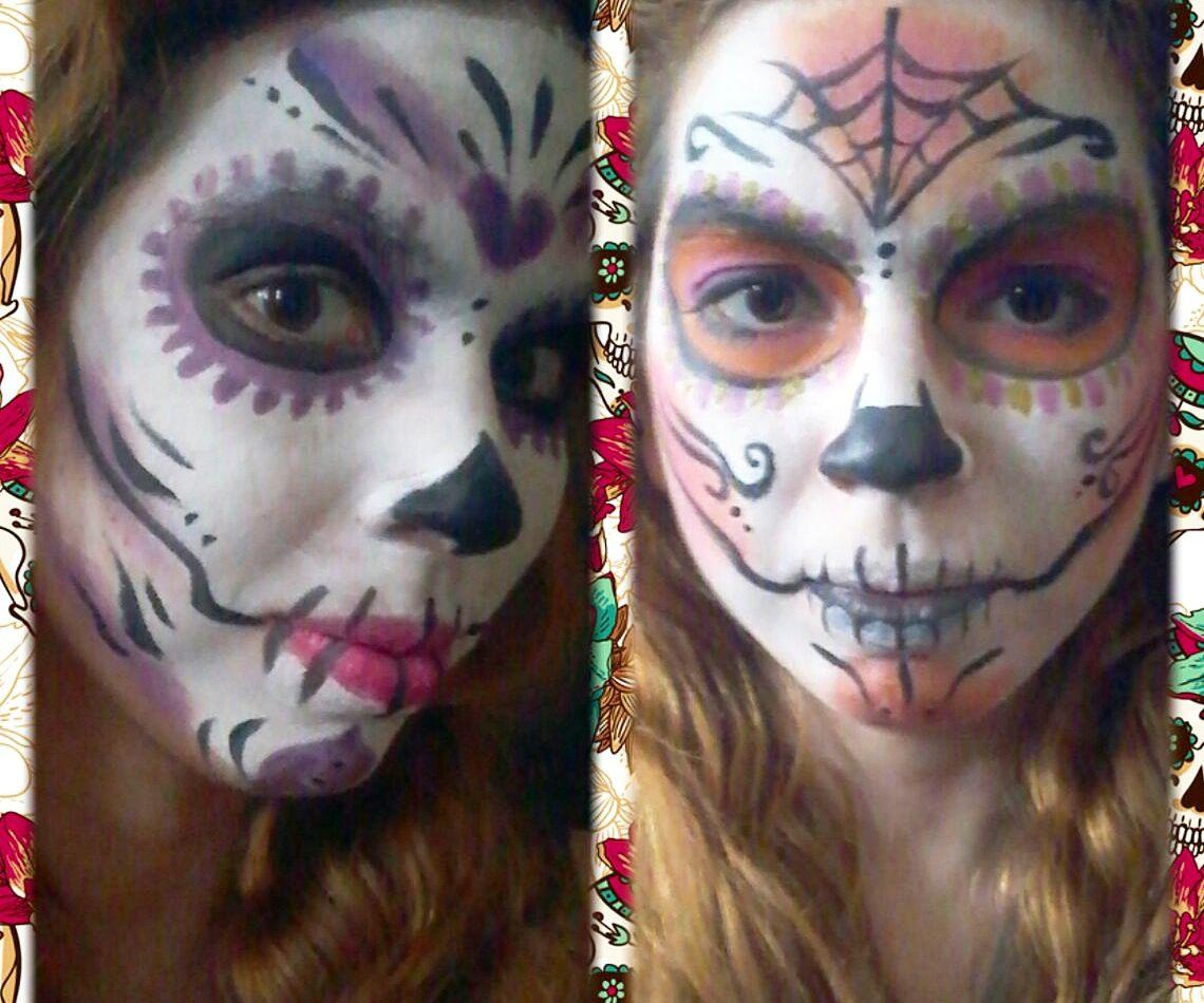 Sugar Skull Face Paint (2 Ways)