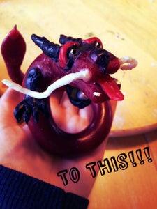 DIY Wax Candle Dragon Sculpture
