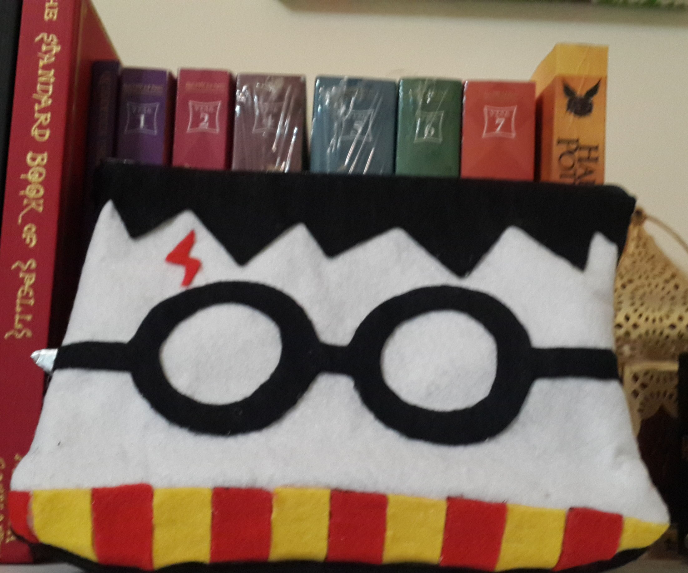 Harry Potter Pencil case fabric hp with gun glue