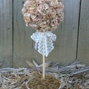 Book Page Topiary