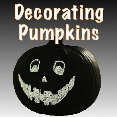 Decorating Pumpkins for Halloween