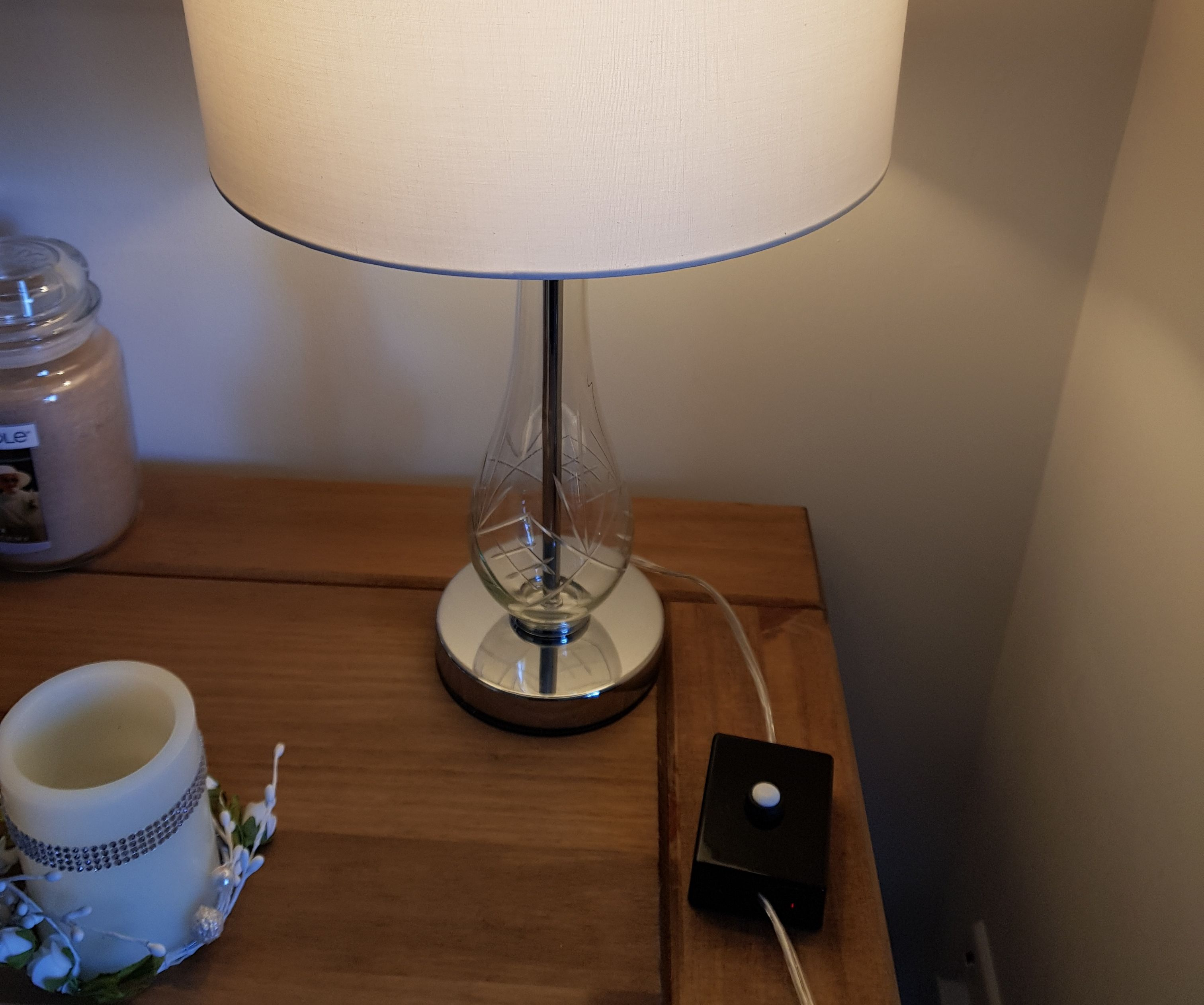Alexa and Switch Operated Lamp