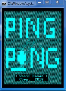 Pong Game in Batch!