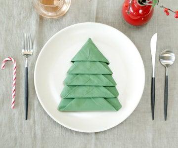 Christmas Tree Napkin Fold
