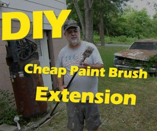 Cheap DIY Paint Brush Extension
