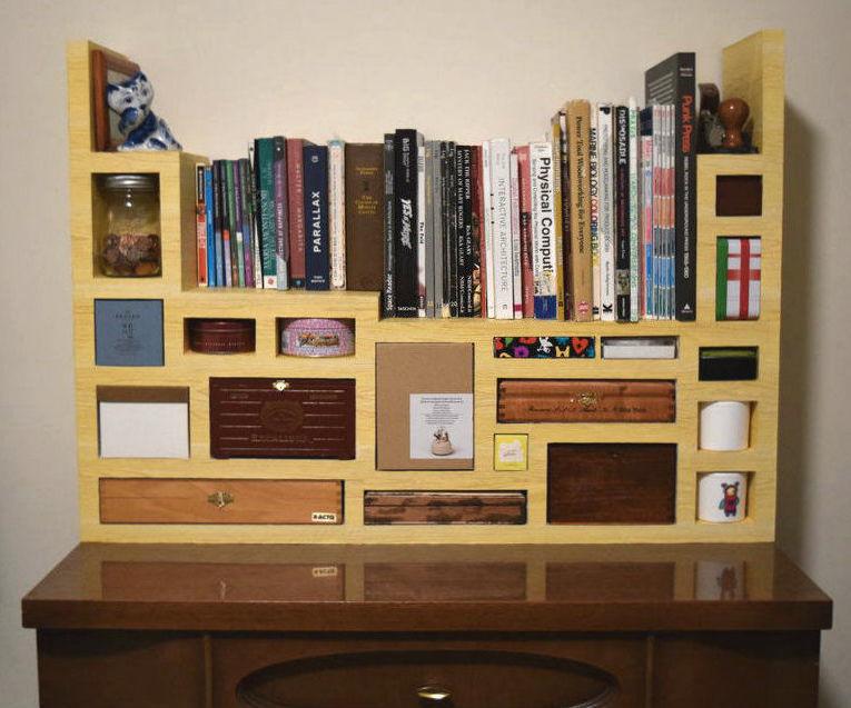 Faux Wood Cardboard Storage
