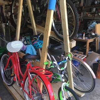 Rolling Bike Rack