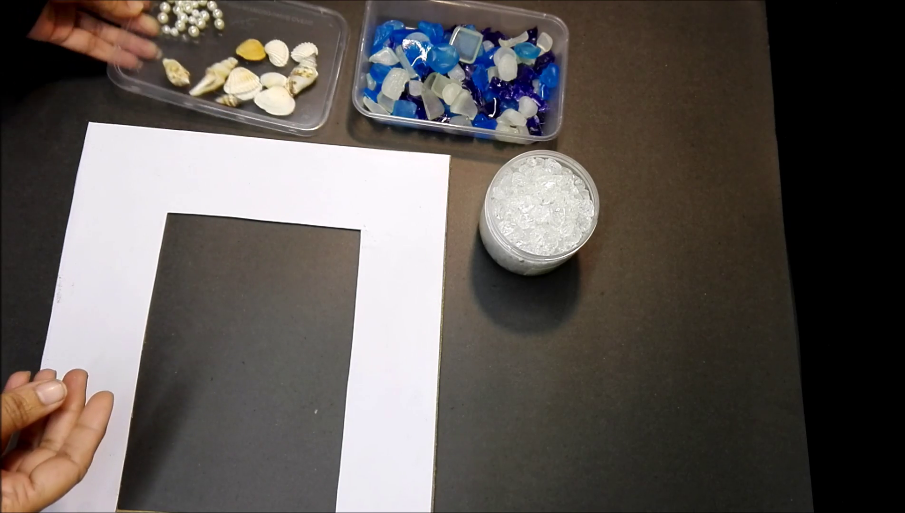 Pasting of Sea Glass