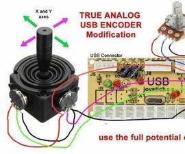 Zero Delay USB Encoder True Analog Joystick Modification.