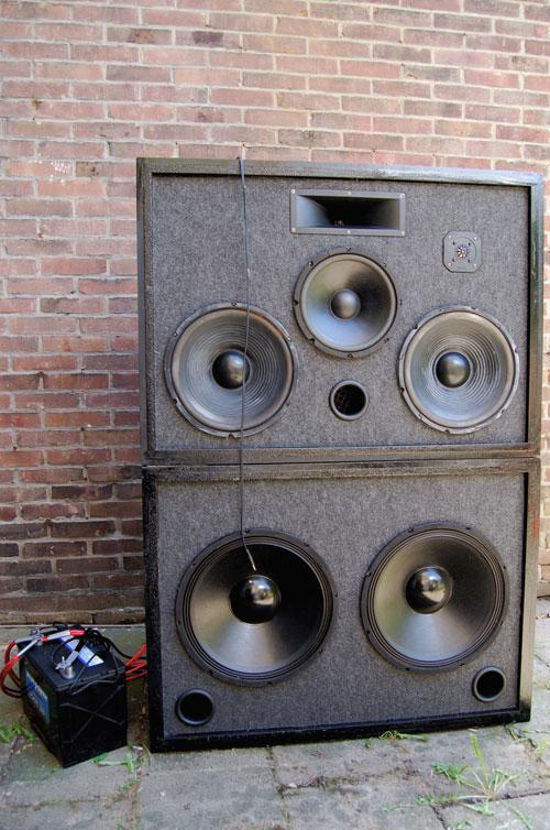 Outdoor 3-Way Speaker Sound System 12V