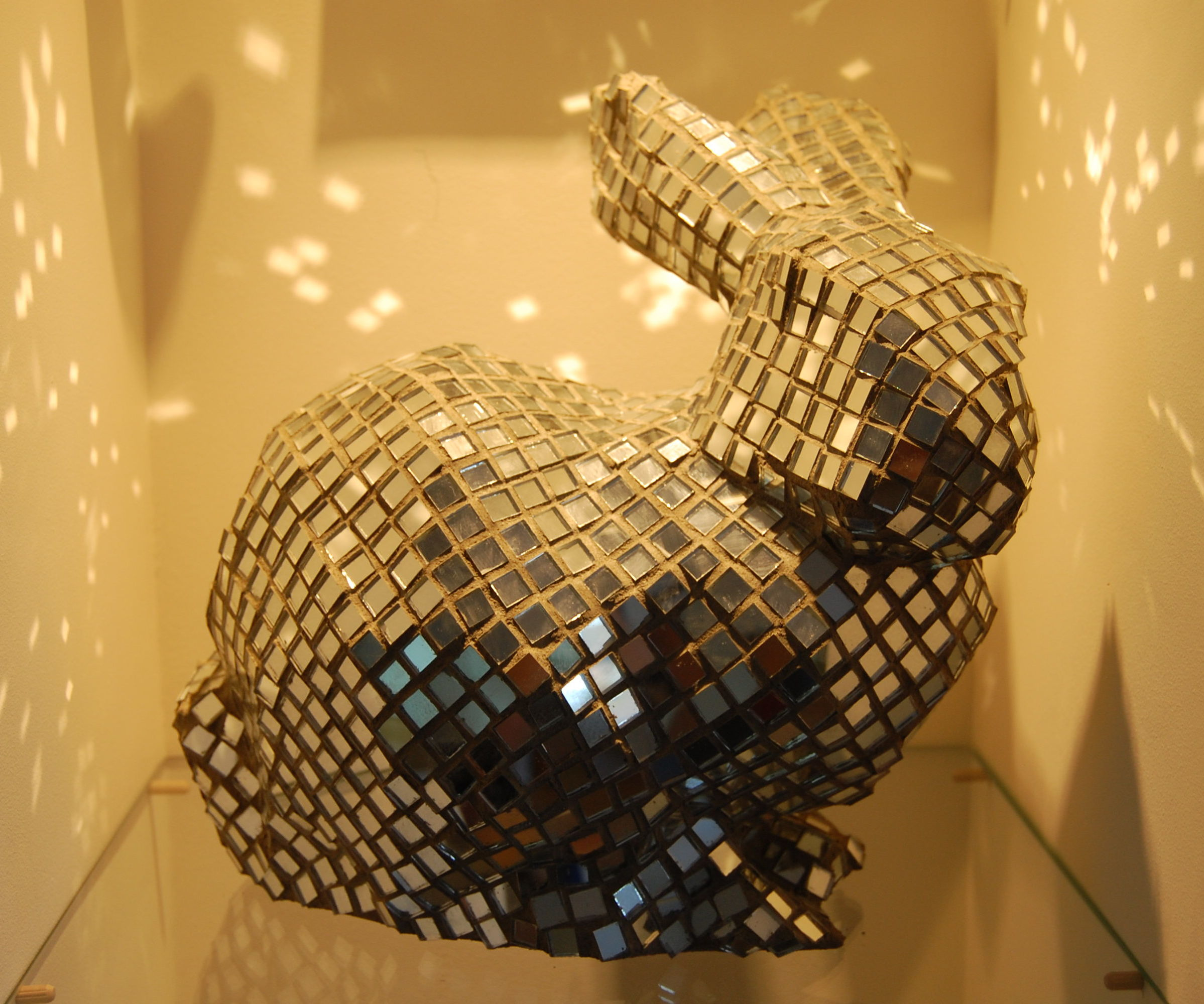Mirrored Glass Sculptures