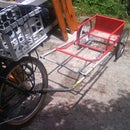 Combined cart bike trailer