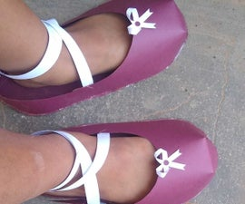 How to Make a Paper Shoe (Pumps or Flats)