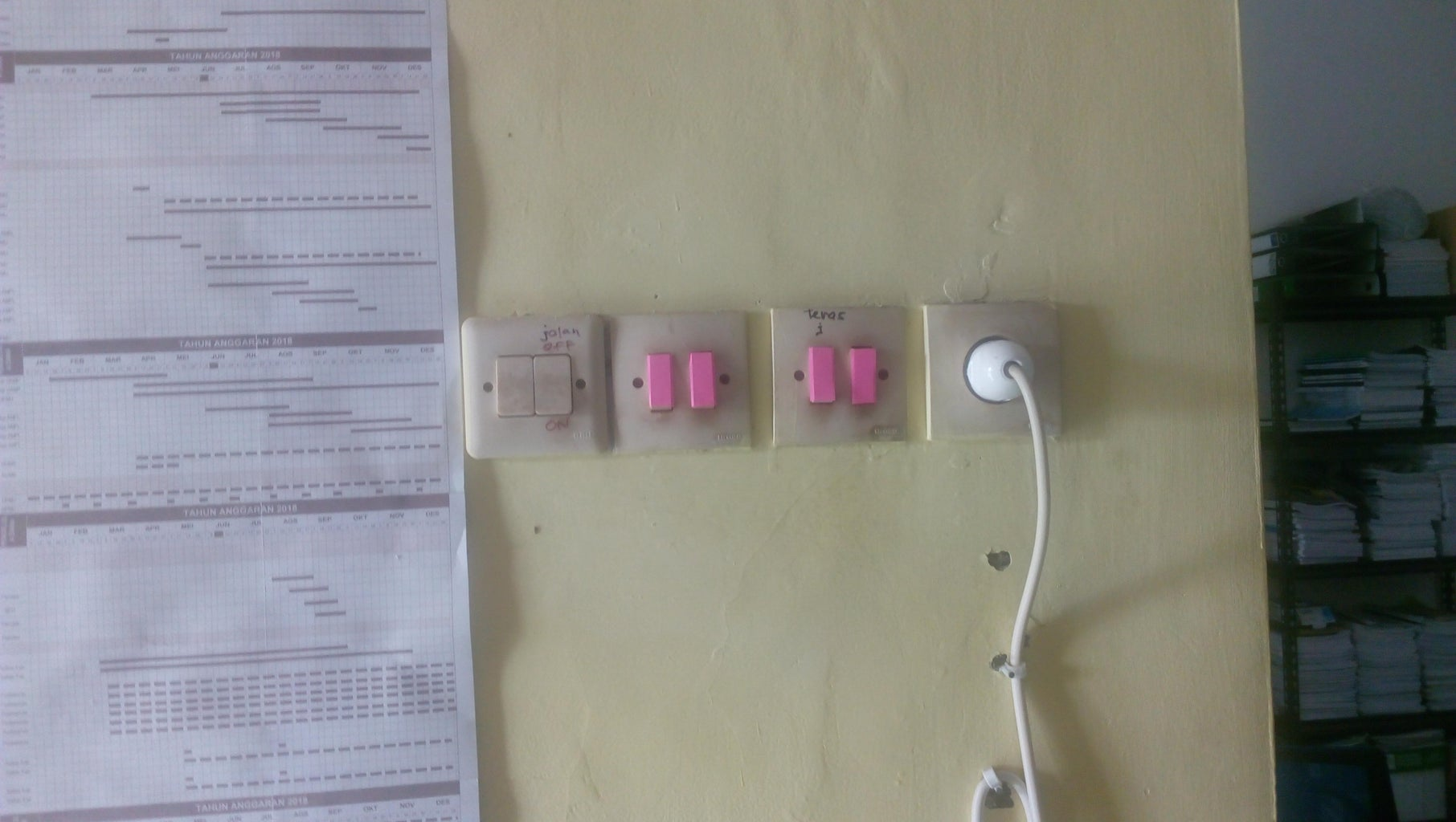 Colored Electric Switch
