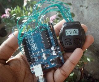 Hack Wrist Watch LCD With Arduino || D-type LCD || Arduino Digital Watch|| Vishal Soni