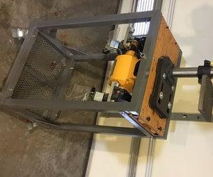 Metal Rotating Tool Stand