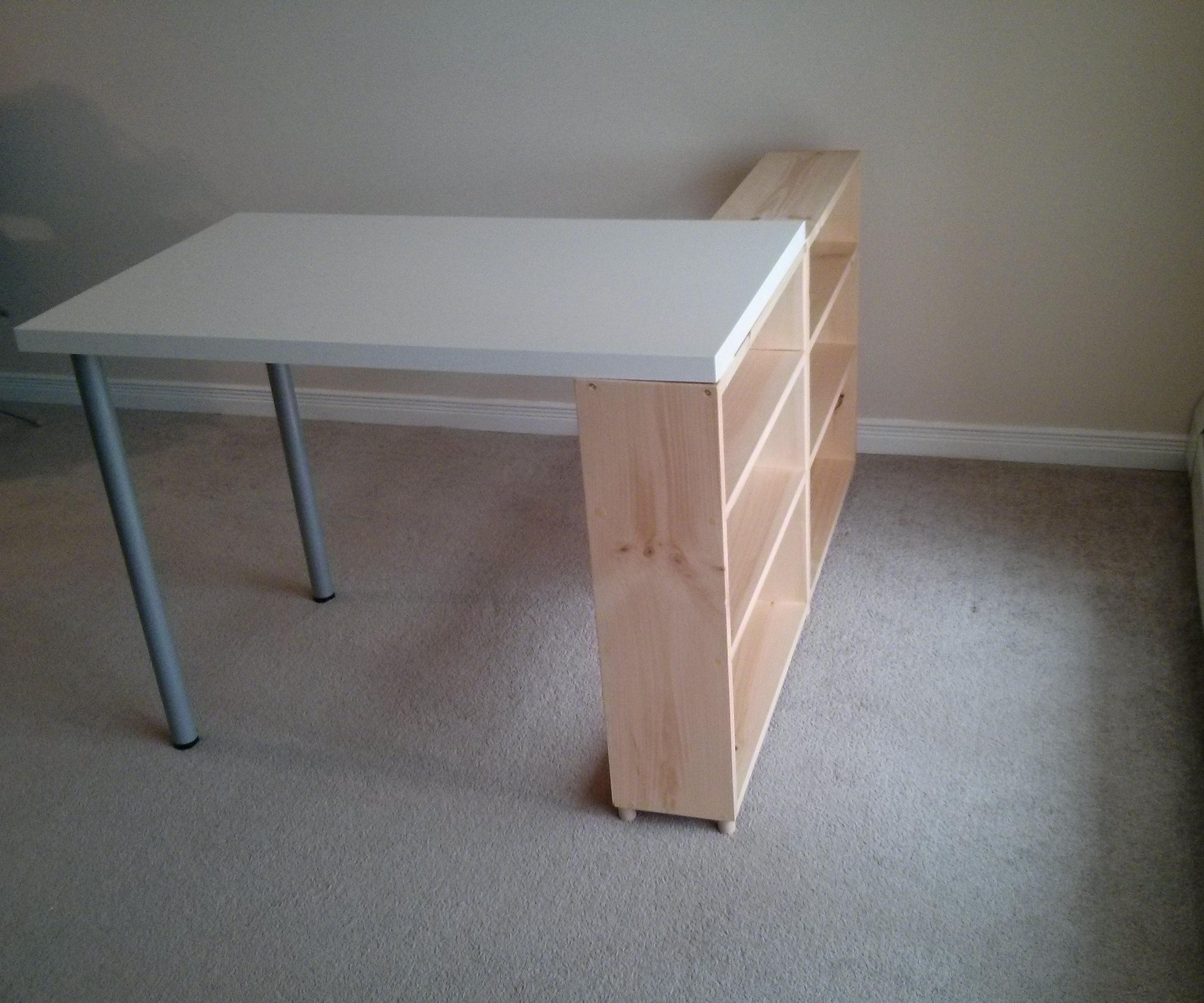 IKEA Table with under-shelf storage