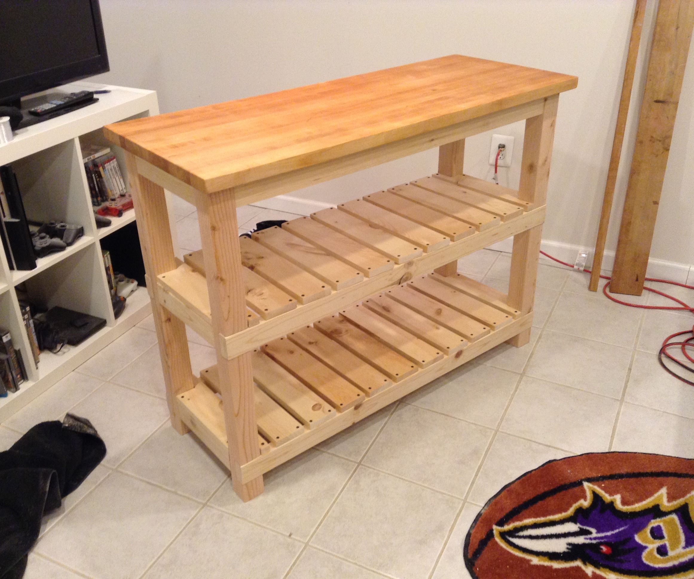 Diy Butcher Block Kitchen Island 7 Steps With Pictures Instructables