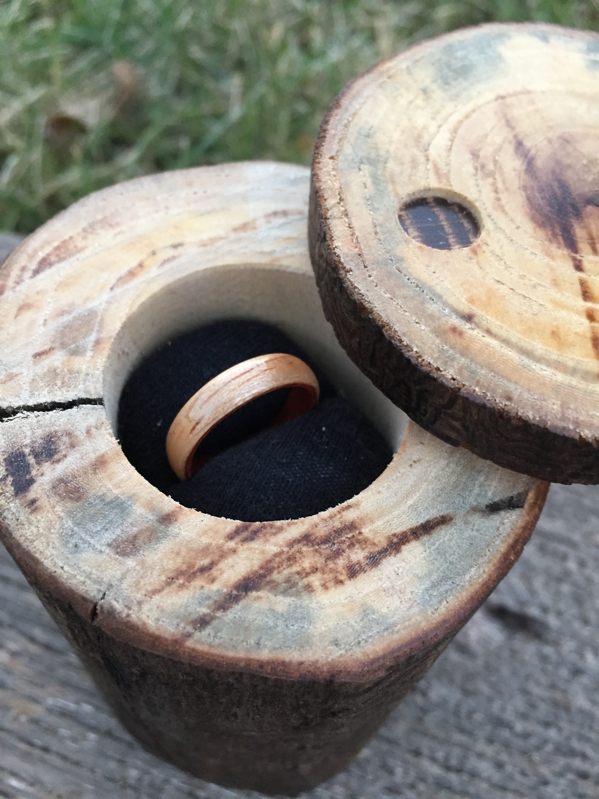 Beautiful Wood Ring And Box