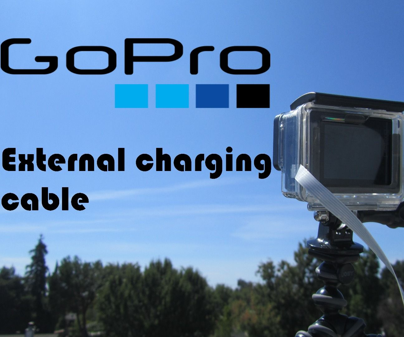 GoPro external charging cable
