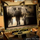 """A Steampunk Screen: """"Carbon Filament Crystal Cinematograph"""