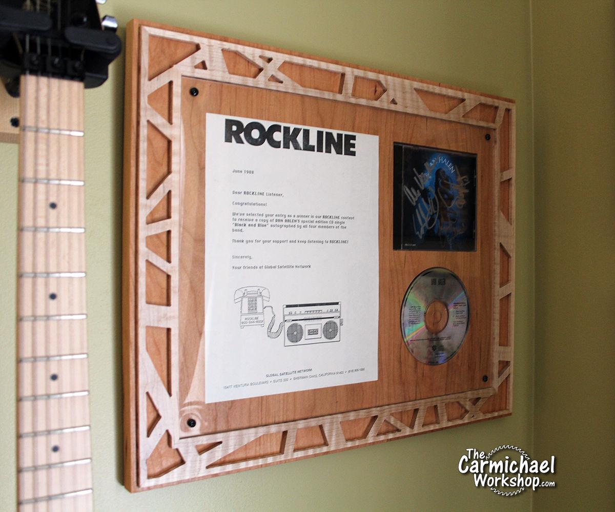 Van Halen Autographed CD Frame