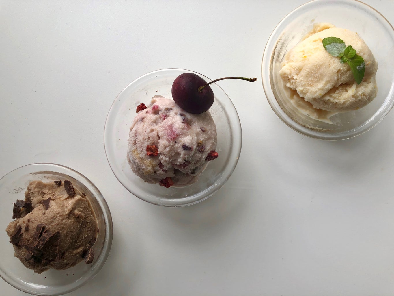 No-Churn Adult Ice Cream 3 Ways