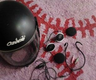 Helmet Stereo Headphones