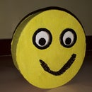 Cardboard Animatronic Smiley With BT App