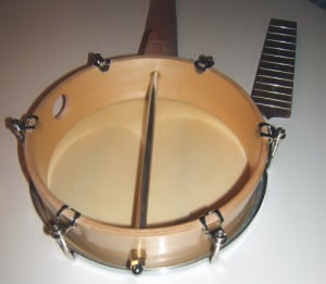 Attaching Neck to the Hand Drum