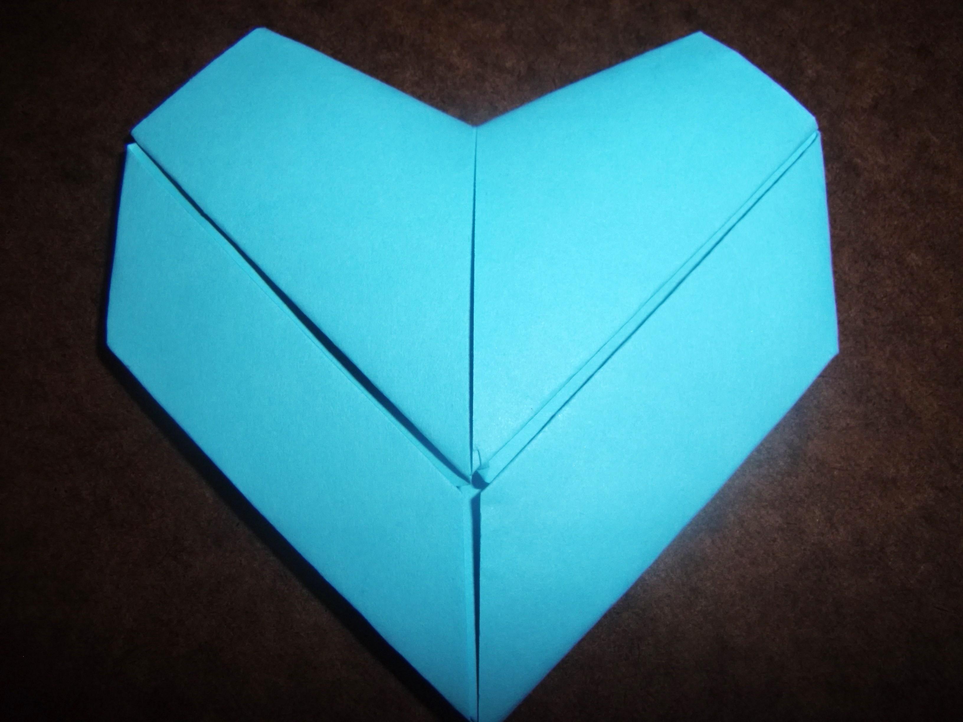 Origami Paper Heart [blue]