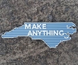 3D Printed State Letterboard
