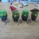 Polymer clay doodle jumpers