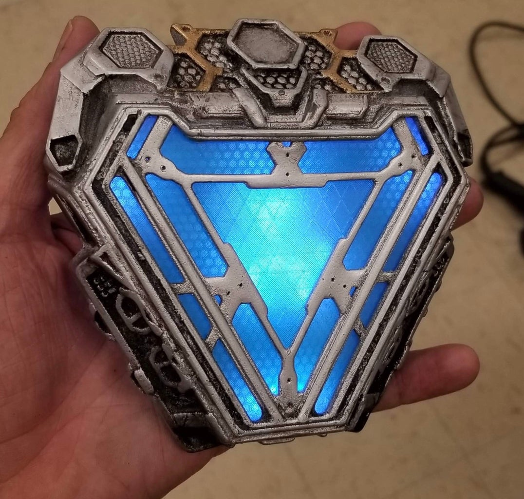 3d Printed Endgame Arc Reactor (Movie Accurate and Wearable)