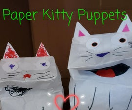 Paper Kitty Puppet