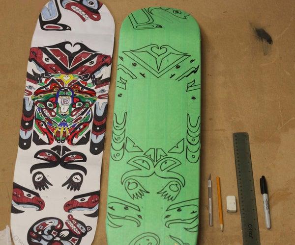Skateboard Stencil Art
