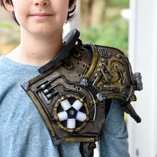 DIY Steampunk Shoulder Armor / Foam Armor Template