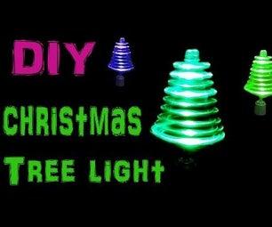 Make Rotating Christmas Tree Light Using LED's and Toy Motor