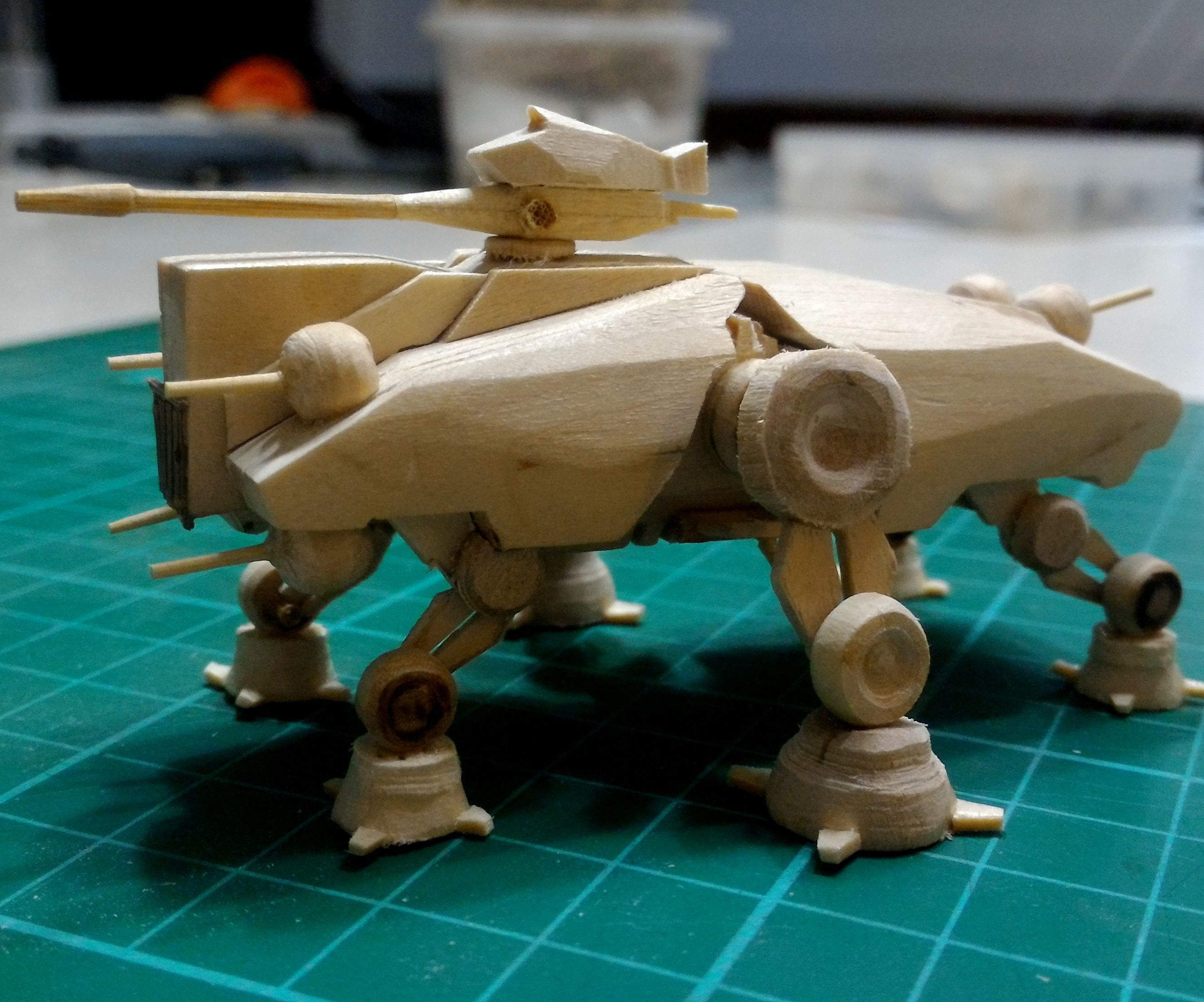 (And still another not so) Mini AT-TE popsicle stick model