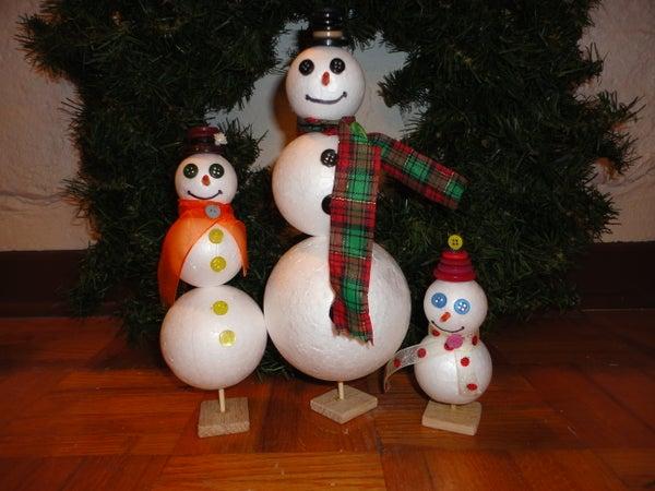 Styrofoam Snowpeople