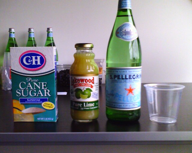 Tasty homebrew lower-sugar lime soda (Limeade)
