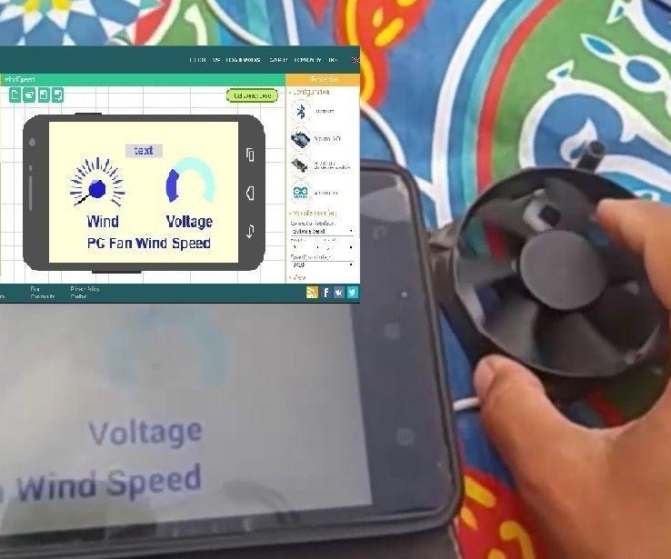 Arduino Bluetooth PC Fan Wind Sensor With RemoteXY