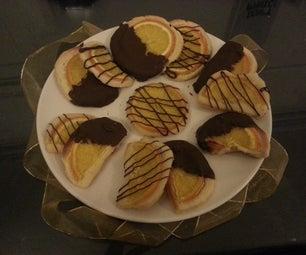 Elegant Chocolate Orange Cookies