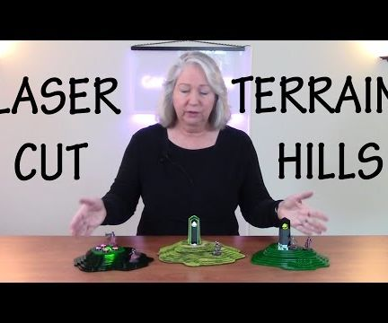 How to Design and Laser Cut Lit Hills for Tabletop Terrain