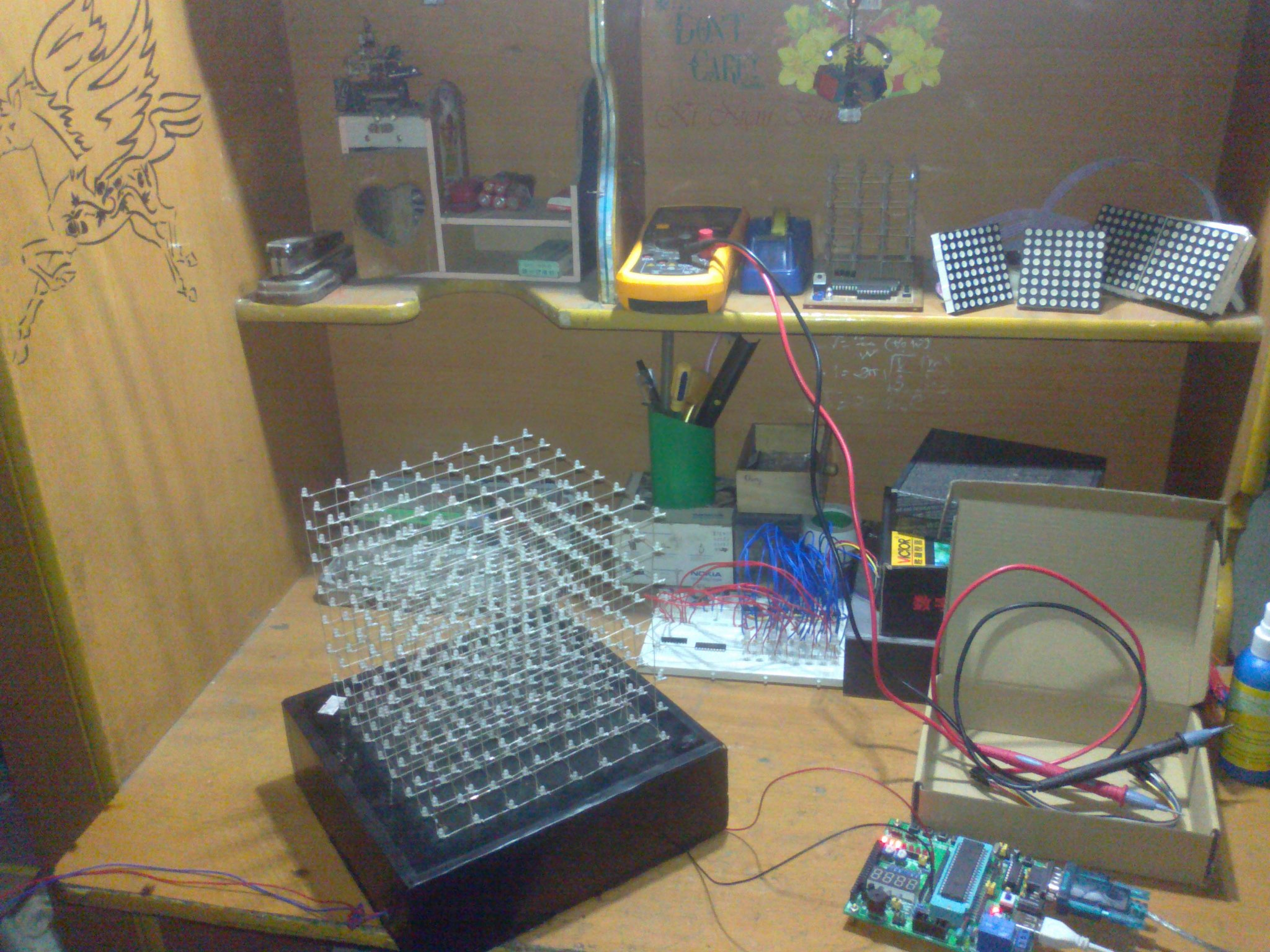 LED CUBE 8x8x8 (8051 VN)