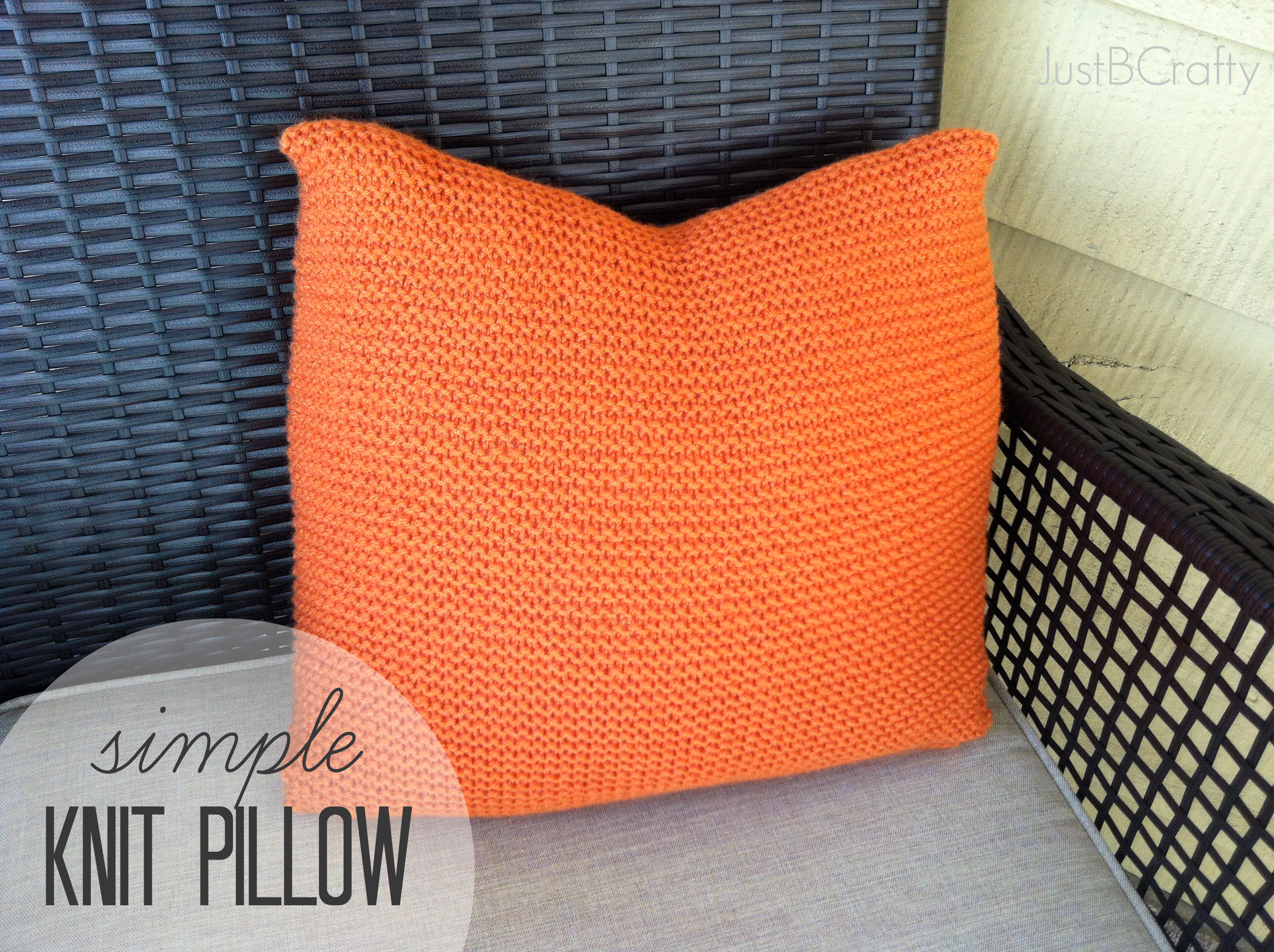 Simple Knit Pillow 8 Steps With Pictures Instructables