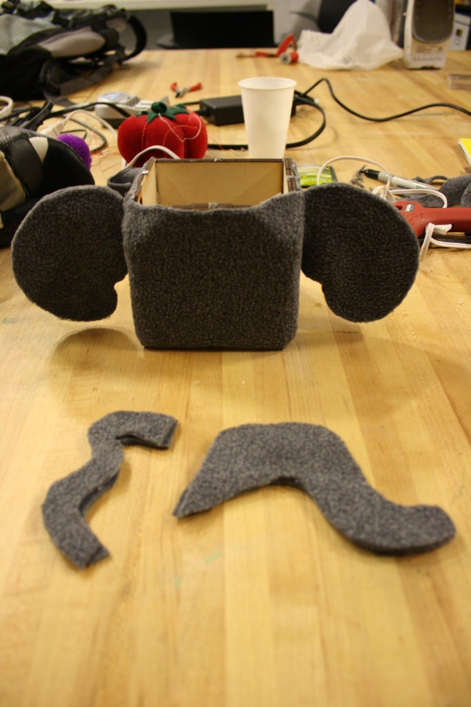 Creating the Ears, Nose, Tail, Eyes, Cheeks