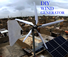 DIY风发电机