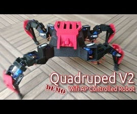 ESP8266 WIFI AP Controlled Quadruped Robot